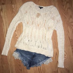 AEO Open Knit Sweater NWT